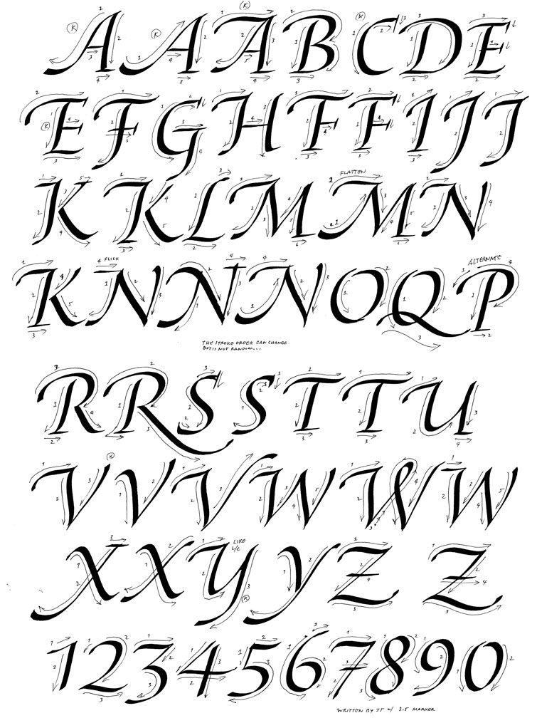 1000 images about calligraphy on pinterest Learn calligraphy letters