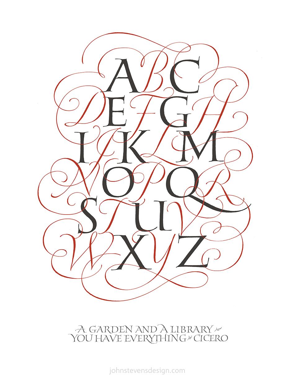 John Stevens Calligraphic Alphabet