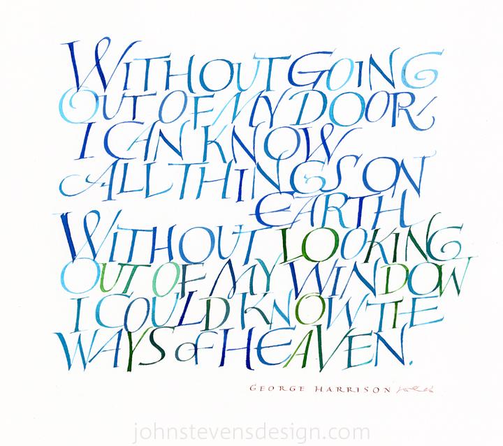 Personal works john stevens calligraphy