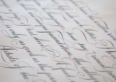 Spencerian Writing
