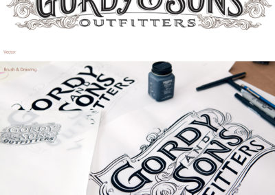 Gordy & Son Logo / Lettering