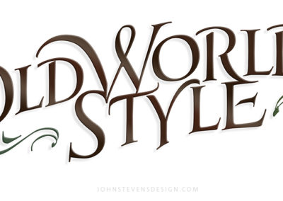 Old World Style lettering