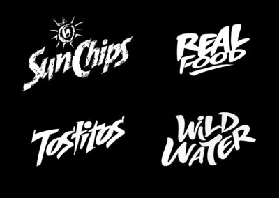 Lettering sketches for food