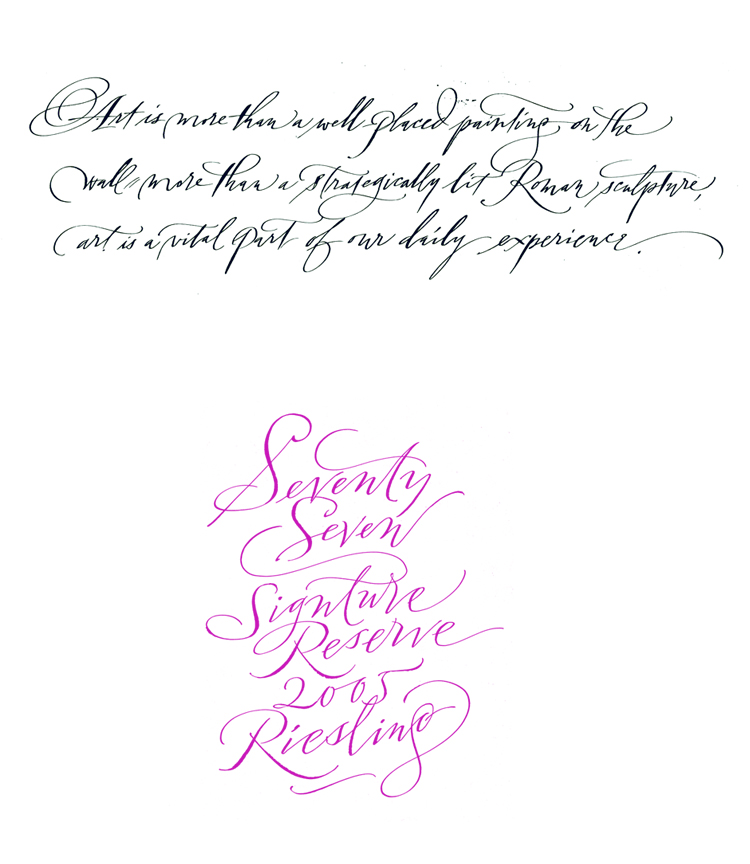 Handwriting Styles of Calligraphy – John Stevens Calligraphy