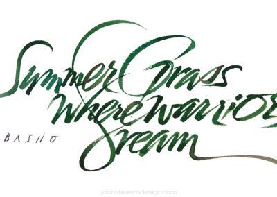 Summer Grass Haiku