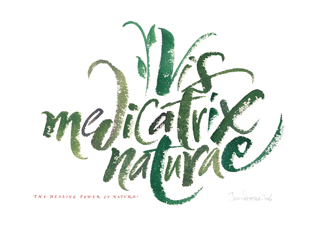 calligraphy on watercolor paper