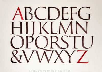 Brush Capitals Book – John Stevens Calligraphy