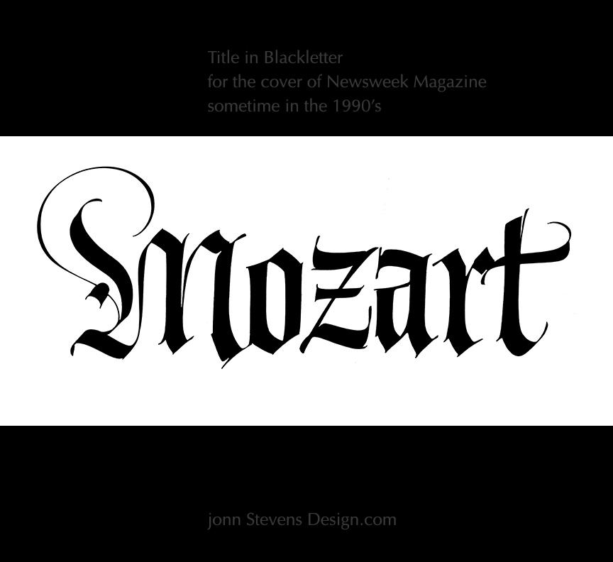 Mozartig John Stevens Calligraphy