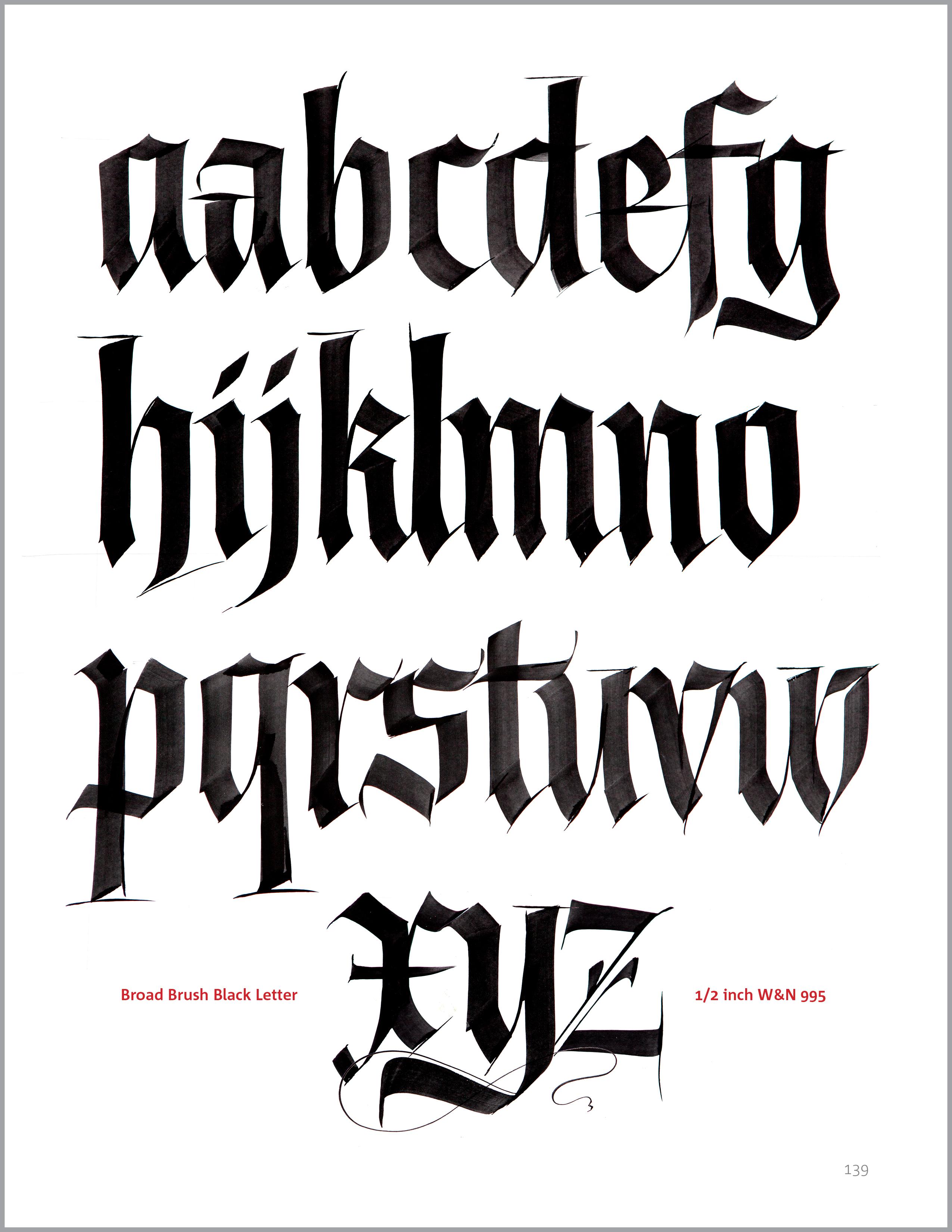 Blackletterx John Stevens Calligraphy